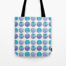 Universal Geometry 2 - Galaxy Polkadots in purple and aqua Tote Bag