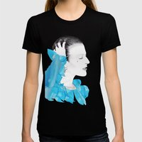 PLANET EARTH IS BLUE... Womens Fitted Tee Black SMALL