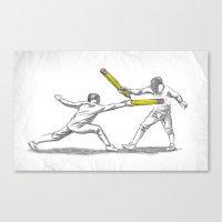 Parry Thrust Pencil Erase Canvas Print