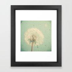 Dandelion Clock Framed Art Print