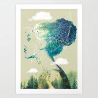 Geo Forest Art Print