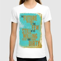 The Future Belongs To Yo… Womens Fitted Tee White SMALL