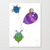 Bees Go Buzz Buzz Canvas Print
