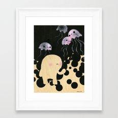 Jellyfish Wrangler Framed Art Print