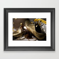 Shoe ad composition 1 Framed Art Print