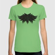 Crowberus Womens Fitted Tee Grass SMALL