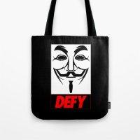V-Defy Tote Bag