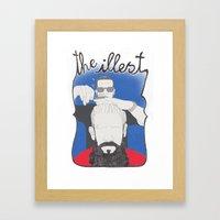 The Illest Haircut Framed Art Print
