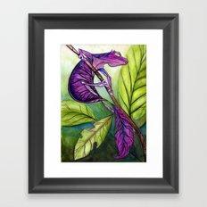 Satanic Leaf-Tailed Gecko Framed Art Print