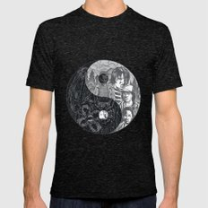 Upside Down  Mens Fitted Tee Tri-Black SMALL