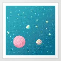 Brain Planet (8bit) Art Print
