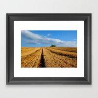 Harvest On Romney Marsh Framed Art Print