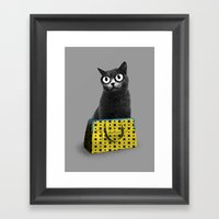 The Cat in the Bag of Tricks Framed Art Print