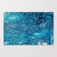 Broken and blue Canvas Print