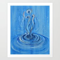 A hazy hand of water Art Print