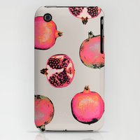 iPhone 3Gs & iPhone 3G Cases featuring Pomegranate Pattern by Georgiana Paraschiv