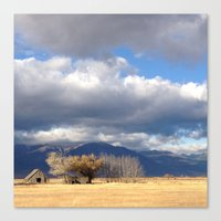 Baker City Barn Canvas Print