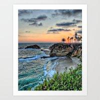 Goff Cove Sunset 1 Art Print