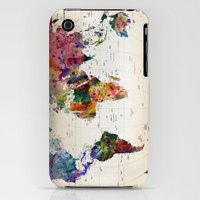 iPhone 3Gs & iPhone 3G Cases featuring map by mark ashkenazi
