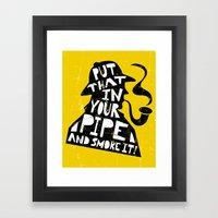 Smoke It! Framed Art Print