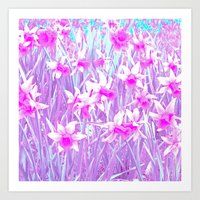 Narcissus Flowers Abstra… Art Print