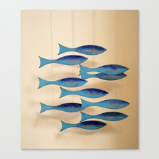 Fish on the Line Canvas Print