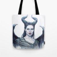 Maleficent Watercolor Po… Tote Bag