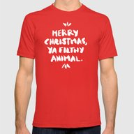 Merry Christmas, Ya Filt… Mens Fitted Tee Red SMALL