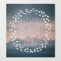 Nothing Gold Can Stay I Canvas Print