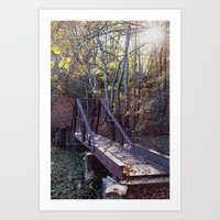 Crooked Little Bridge Art Print