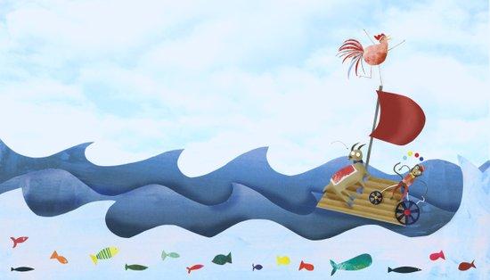Sea race Art Print