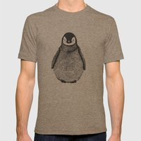 penguin Mens Fitted Tee Tri-Coffee SMALL