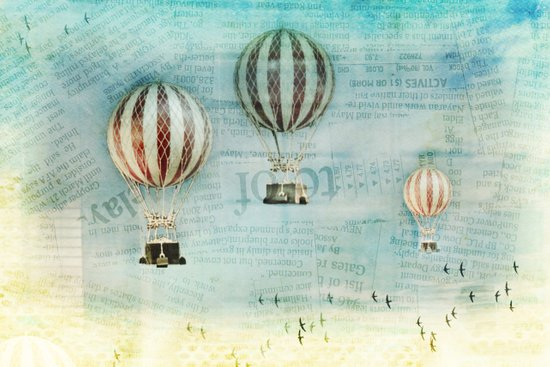 drifting _ hot air balloons Art Print