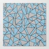 Ab Blocks Blue #2 Canvas Print