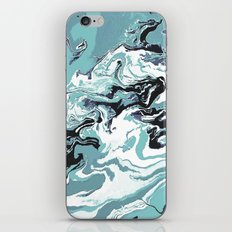 Woman Holding Sky with Dragons iPhone & iPod Skin
