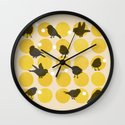 Birdsong Yellow Wall Clock