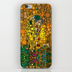 If Klimt The Kiss was painted with bubbles  iPhone & iPod Skin