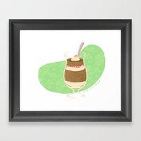 Strawberry Mocha Parfait Framed Art Print
