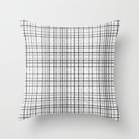Weave Black and White Throw Pillow