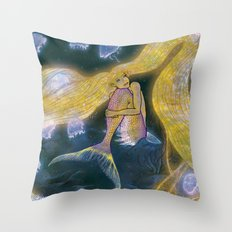 Glowing Maiden Throw Pillow