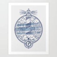 Led By The Compass Of My Soul Guided By The Light Of My Heart Art Print