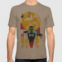 Summer. Mens Fitted Tee Tri-Coffee SMALL