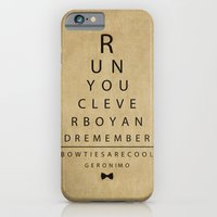 iPhone & iPod Case featuring Run You Clever Boy - Doctor Who Vintage Eye Exam Chart by The Haus of Chaos: Alli Woods Frederick