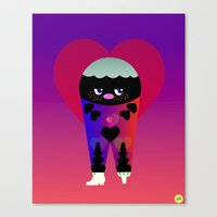 lovely love Canvas Print