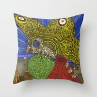 Mothra Throw Pillow