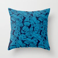 Bots Throw Pillow