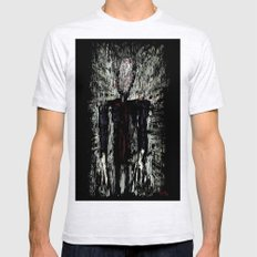 Slenderman Mens Fitted Tee Ash Grey SMALL