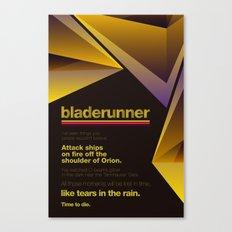 Bladerunner Minimal Movie Poster Canvas Print