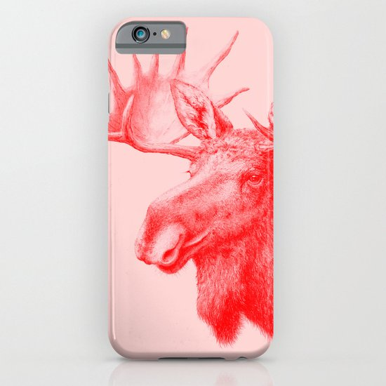 Moose red iPhone & iPod Case