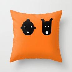 tintin & milu Throw Pillow